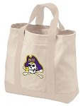 East Carolina Tote Bags NATURAL CANVAS