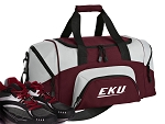 SMALL EKU Gym Bag Eastern Kentucky Duffle Maroon