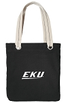 EKU Tote Bag RICH COTTON CANVAS Black