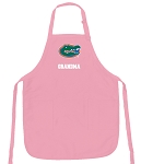 Deluxe University of Florida Grandma Apron Pink - MADE in the USA!