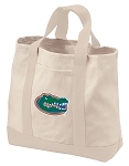 University of Florida Tote Bags NATURAL CANVAS