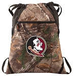 FSU RealTree Camo Cinch Pack