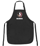 Official Florida State Grandma Apron Black