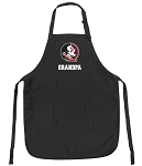 Official Florida State Grandpa Apron Black