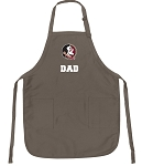 Official FSU Dad Apron Tan