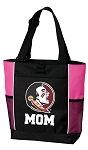Florida State Mom Tote Bag Pink