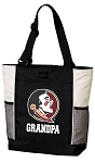 Florida State Grandpa Tote Bag White Accents