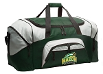 Large George Mason University Duffle Bag Green