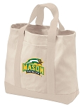 George Mason University Tote Bags NATURAL CANVAS