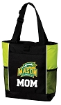 George Mason Mom Tote Bag COOL LIME