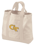 Georgia Tech Tote Bags NATURAL CANVAS