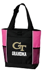 Georgia Tech Grandma Tote Bag Pink