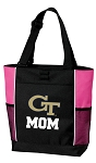 Georgia Tech Mom Tote Bag Pink