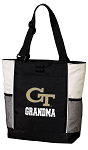 Georgia Tech Grandma Tote Bag White Accents