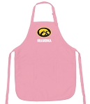Deluxe University of Iowa Grandma Apron Pink - MADE in the USA!
