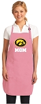 Deluxe University of Iowa Mom Apron Pink - MADE in the USA!