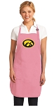 Deluxe University of Iowa Apron Pink - MADE in the USA!