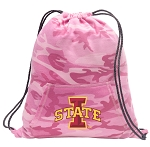 Iowa State Drawstring Backpack Pink Camo
