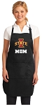 Official Iowa State Mom Apron Black