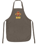 Official Iowa State University Dad Apron Tan