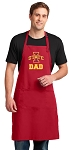 Iowa State Dad Large Apron Red