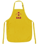 Deluxe Iowa State Dad Apron - MADE in the USA!