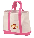 Iowa State Tote Bags Pink