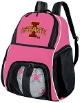Girls Iowa State Soccer Backpack or ISU Cyclones Volleyball Bag