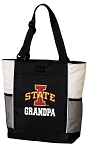 Iowa State Grandpa Tote Bag White Accents