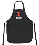 Official University of Illinois Grandma Apron Black