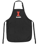 Official University of Illinois Grandpa Apron Black