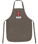 Official Illini Dad Apron Tan