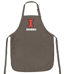 Official Illini Grandma Apron Tan