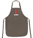 Official Illini Grandpa Apron Tan