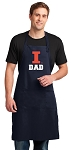 University of Illinois Dad Apron LARGE Navy