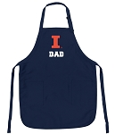 Official University of Illinois Dad Aprons Navy