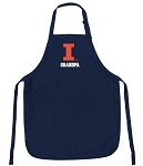Official University of Illinois Grandpa Aprons Navy