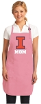 Deluxe University of Illinois Mom Apron Pink - MADE in the USA!
