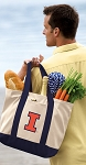 Illinois Illini Tote Bag Navy