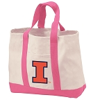 University of Illinois Tote Bags Pink