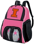 Girls University of Illinois Soccer Backpack or Illini Volleyball Bag