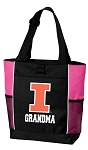 University of Illinois Grandma Tote Bag Pink
