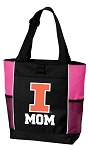 University of Illinois Mom Tote Bag Pink