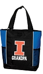 University of Illinois Grandpa Tote Bag Roy