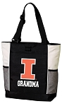 University of Illinois Grandma Tote Bag White Accents