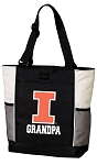 University of Illinois Grandpa Tote Bag White Accents
