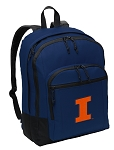 University of Illinois Illini Backpack Navy