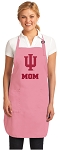 Deluxe Indiana University Mom Apron Pink - MADE in the USA!