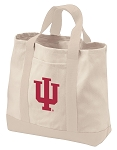 Indiana University Tote Bags NATURAL CANVAS