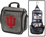 IU Toiletry Bag or Indiana University Shaving Kit Organizer for Him Gray